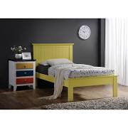 ACME Prentiss Twin Bed Yellow - 25425T-Platform Beds-HipBeds.com