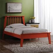 ACME Marlton Twin Bed Orange - 25415T-Platform Beds-HipBeds.com