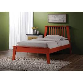 ACME Marlton Full Bed Orange - 25413F-Platform Beds-HipBeds.com