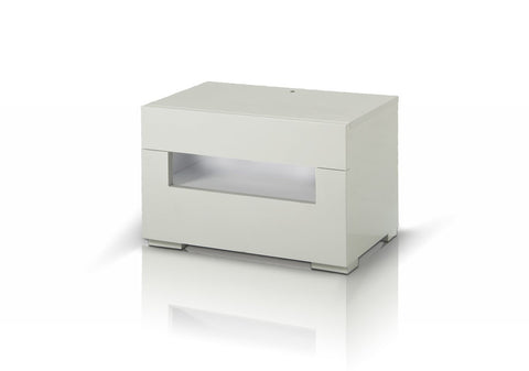 Modrest Ceres - Modern LED White Lacquer Nightstand-Nightstands-HipBeds.com