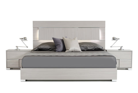 VIG Furniture Modrest Ethan Italian Modern Grey Bed - King Size-Platform Beds-HipBeds.com