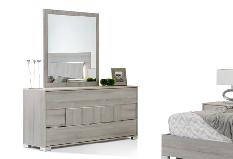 VIG Furniture Modrest Ethan Italian Modern Grey Mirror