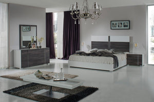 VIG Furniture Nova Domus Corrado Italian Modern White & Grey Bedroom Set-Bedroom Sets-HipBeds.com