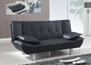 Global Furniture Sofa Bed Black Pu # Pu09-Beds-HipBeds.com