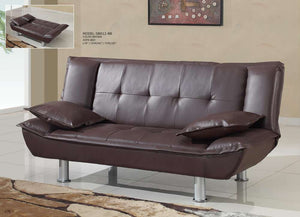 Global Furniture Sofa Bed Brown Pvc # 06449-Beds-HipBeds.com