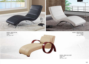 Global Furniture Chaise White # Xt758-25-Chairs-HipBeds.com