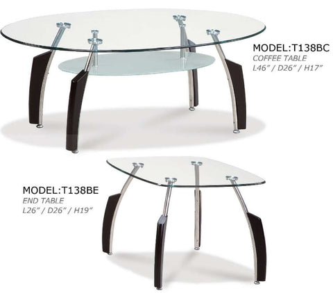 Global Furniture End Table In Black-Tables-HipBeds.com