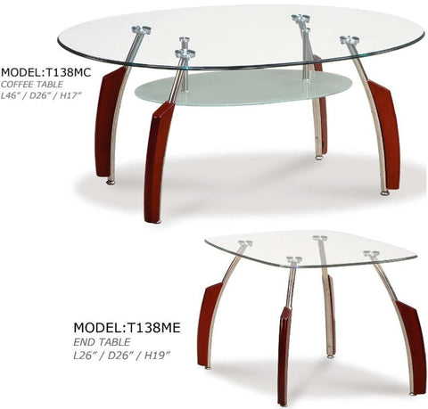 Global Furniture Coffee Table In Mahogany-Tables-HipBeds.com