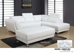Global Furniture Ottoman Qpu012 White-Ottomans-HipBeds.com