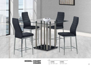 Global Furniture Bar Table Black-Tables-HipBeds.com