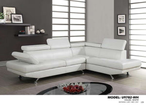 Global Furniture Sectional Qpu012 White-Sofas-HipBeds.com