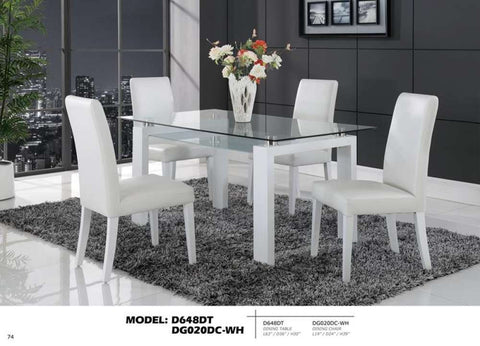 Global Furniture Dining Table White-Dining Tables-HipBeds.com