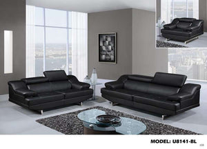 Global Furniture Loveseat Natalie Black/Wagner Black-Sofas-HipBeds.com