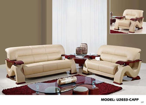 Global Furniture Sofa Cappuccino #7004-Sofas-HipBeds.com
