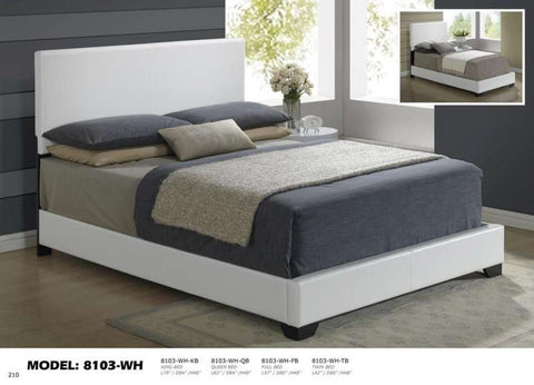 Global Furniture Queen Bed White-Beds-HipBeds.com