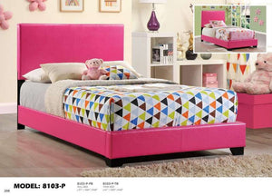 Global Furniture Twin Bed Pink-Beds-HipBeds.com