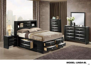 Global Furniture Nightstand Black-Nightstands-HipBeds.com