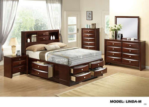 Global Furniture Queen Bed New Merlot-Beds-HipBeds.com