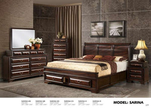 Global Furniture Queen Bed Varnish Oak-Beds-HipBeds.com