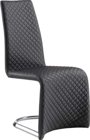 Global Furniture Dining Chair Black Pu (Dh009)-Chairs-HipBeds.com