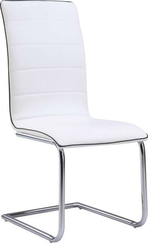Global Furniture Dining Chair White W/ Black Cushion-Chairs-HipBeds.com