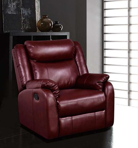 Global Furniture Glider Recliner Burgundy #Qpu 019-Chairs-HipBeds.com