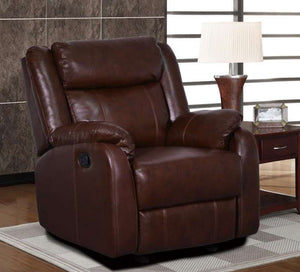 Global Furniture Glider Recliner Brown 940-Chairs-HipBeds.com
