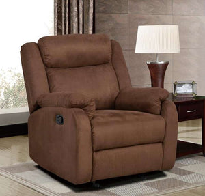 Global Furniture Glider Recliner S-022 Chocolate-Chairs-HipBeds.com