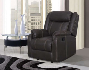 Global Furniture Glider Recliner Gin Rummy Charcoal-Chairs-HipBeds.com
