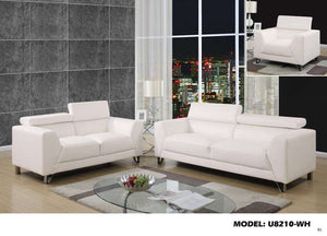 Global Furniture Loveseat Pluto White-Sofas-HipBeds.com