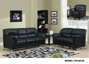 Global Furniture Sofa Pvc # Black-Sofas-HipBeds.com