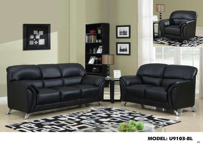 Global Furniture Sofa Pvc # Black