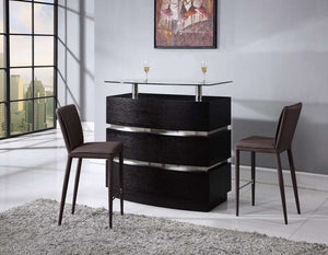 Global Furniture Bar Cabinet, Wenge-Table & Bar Stools-HipBeds.com