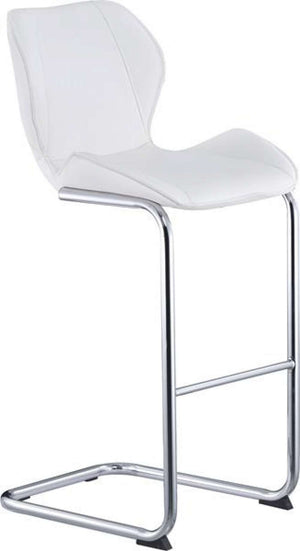 Global Furniture Bar Stool White Pu-1413-Table & Bar Stools-HipBeds.com
