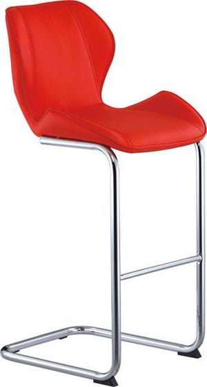 Global Furniture Bar Stool Red Pu-1403-Table & Bar Stools-HipBeds.com