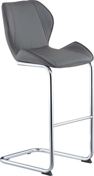 Global Furniture Bar Stool Grey Pu-1424-Table & Bar Stools-HipBeds.com