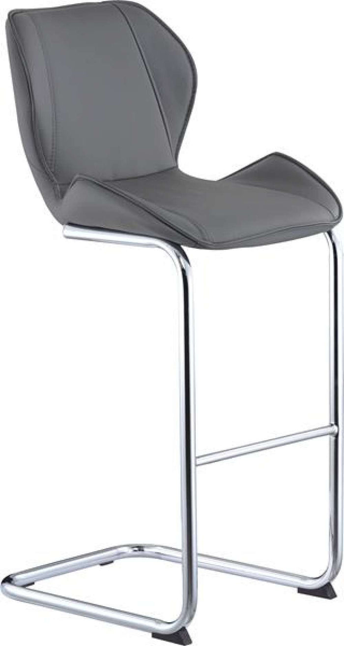 Global Furniture Bar Stool Grey Pu-1424