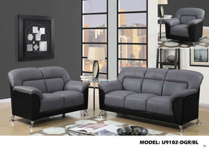 Global Furniture Chair Dark Grey/Black Pvc-Chairs-HipBeds.com