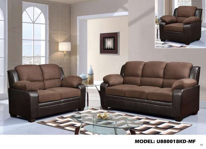 Global Furniture Sofa Er 203/Brown Pu
