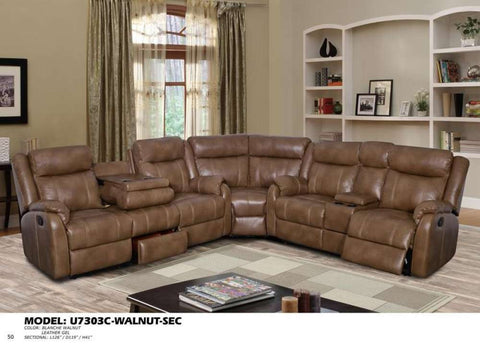 Global Furniture Sectional Blanche Walnut (Dtp672-29)-Sofas-HipBeds.com