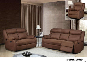 Global Furniture Reclining Loveseat S-022 Chocolate-Sofas-HipBeds.com