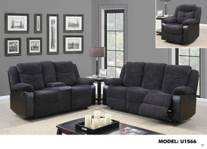 Global Furniture Reclining Sofa Jasmine Mouse(Dtc87-11)/Qpu011-Sofas-HipBeds.com