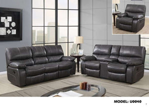 Global Furniture Reclining Sofa Tq-8 (Grey)/Tq1 Welt-Sofas-HipBeds.com