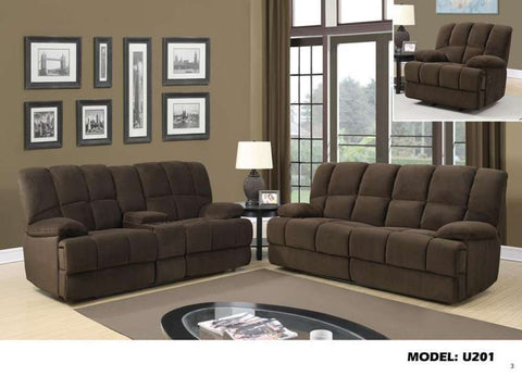 Global Furniture Console Reclining Loveseat Dona Chocolate-Sofas-HipBeds.com