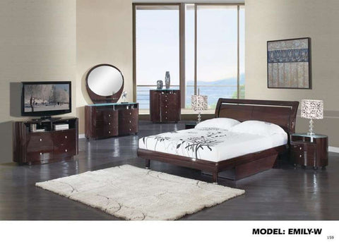 Global Furniture Mirror, Wenge, Mdf, Wood Veneer-Mirrors-HipBeds.com