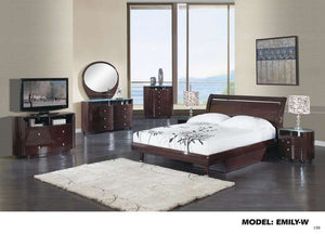 Global Furniture Queen Bed, Wenge, Mdf, Wood Veneer-Beds-HipBeds.com
