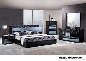 Global Furniture King Bed Black Hg-Beds-HipBeds.com
