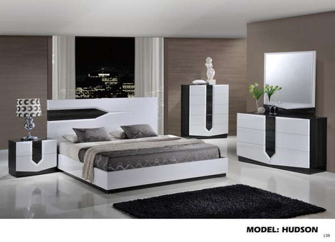 Global Furniture Nightstand Zebra Grey & White Hg-Nightstands-HipBeds.com