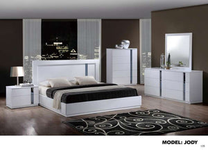 Global Furniture King Bed White Hg-Beds-HipBeds.com