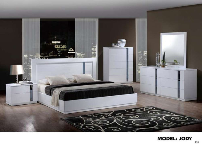 Global Furniture King Bed White Hg